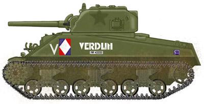 Sherman M4A4 Cyber-hobby 1/35  fini!!!!!!! - Page 7 Profil_gauche_verdunpm